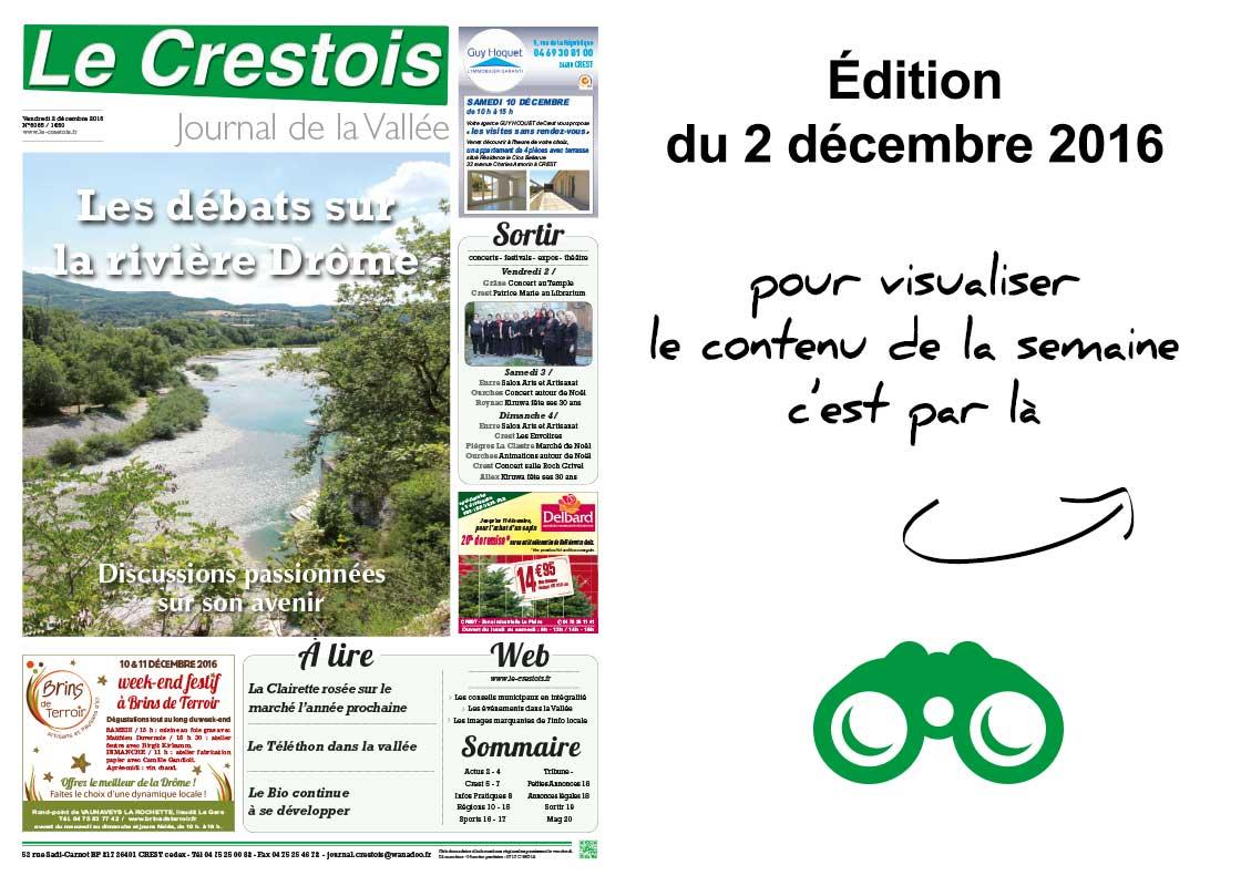 Journal le crestois l 39 dition de la semaine for Le journal de la